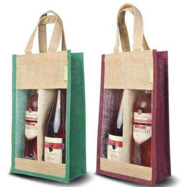 Jute wine bag with PVC