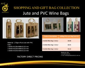 Jute and PVC Wine Bags replacing banned bags