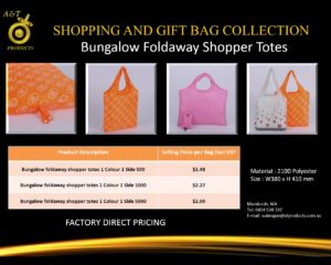 Bungalow Foldaway Shopping Bags replacing banned bags